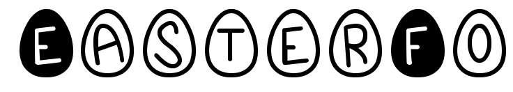 【鸡蛋字体】EasterFont 英文鸡蛋字体下载,鸡蛋造型首选