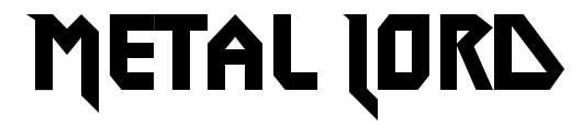 【金属字体】Metal Lord 英文金属字体下载,金属风格推荐