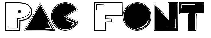 【小精灵字体】Pac 游戏小精灵字体下载,红白机游戏字体