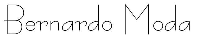 【英文细字体】Bernardo Moda 英文超细字体下载