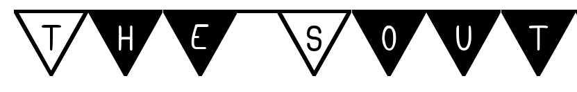 【旗子字体】South Flag 三角旗子字体下载,可用于生日卡片