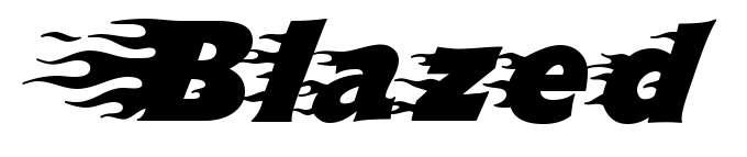 【燃烧字体】Blazed 火焰燃烧字体下载,燃烧出你的幻想