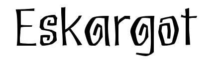 【搞怪字体】Eskargot 调皮搞怪字体下载,节日限定款