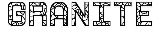 【岩石字体】Granite 花岗岩字体下载,石头字体推荐