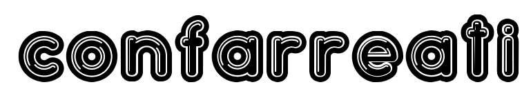 【泡泡字体】 Confarreatio 可爱泡泡字体下载,可商业用途