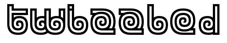 【螺旋字体】 Twizzled 高质感螺旋字体下载,螺旋文字首选