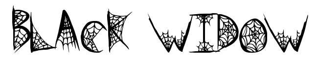 【蜘蛛网字体】Black Widow  可爱蜘蛛网字体下载。节日限定款