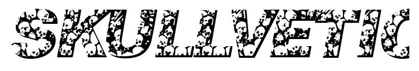 【骷髅字体】Skullvetica 可怕骷髅字体下载,骷髅装饰字