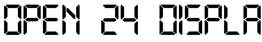 【液晶字体】Open 24 Display 电视液晶字体下载