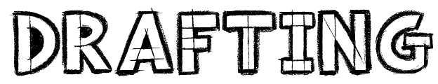 【草图字体】drafting 手绘草图字体下载,图画草图可用