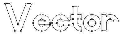 【向量字体】Vector 钢笔向量字体下载,描图字体