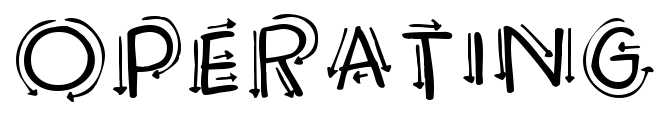 【箭头字体】Operating 方向箭头字体下载,可做教学使用