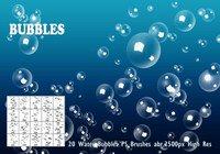 【水波素材】38套 PHOTOSHOP水波素材笔刷,PS水滴笔刷首选
