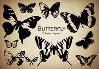 【蝴蝶笔刷】40套专业版PHOTOSHOP蝴蝶笔刷免费下载