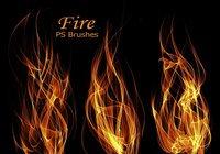 【火焰笔刷】40套专业版Photoshop火焰笔刷免费下载