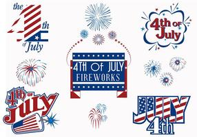 4th of July Fireworks Vector pack