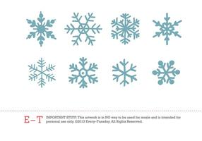 【雪花图案】38套 Illustrator 雪花素材下载,雪花符号推荐款