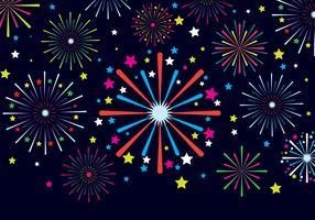 Fireworks Vector Ilustration