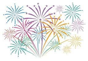 Fireworks with background vector