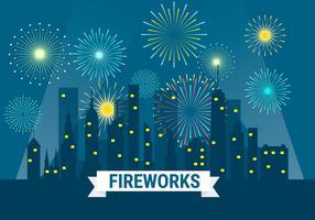 Fireworks Background Illustration