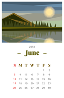 【月历版型】86套专业版Illustrator月历范本下载