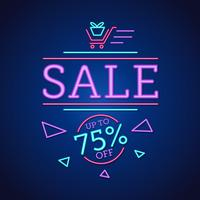 Neon Sale Sign Background