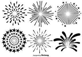 Vector Set Of Fireworks Illustrations On White Background