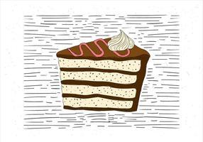 Free Hand Drawn Vector Piece of Cake Illustration