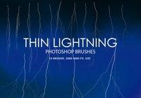 【闪电笔刷】39套专业版PHOTOSHOP 闪电笔刷下载,闪电特效首选
