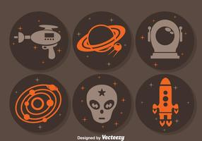Alien Space Circle Icons