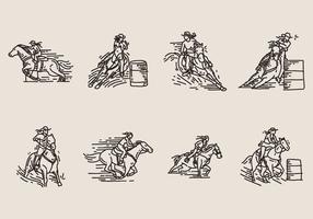 【马图案】33套 Illustrator 马卡通图下载,马插图推荐款