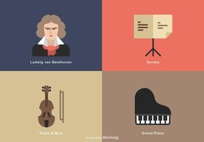 【钢琴卡通】37套 Illustrator 钢琴图案下载,钢琴插画推荐款