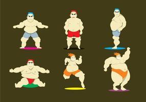 Body Building Athlete Vectors