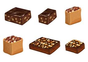 Brownie Vectors and Cakes With Chocolate