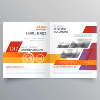 business bi fold brochure or magazine cover page design vector t