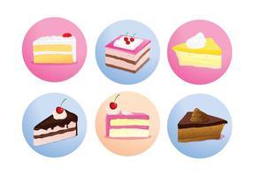 Cake Slice Isolated Vectors