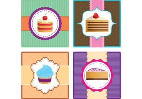 Cake Vector Cards