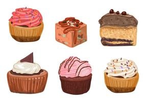 Cakes and Cupcake Vectors