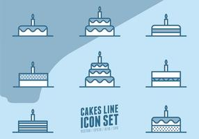 Cakes Line Icons