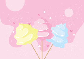 Candy Floss Vector Illustration