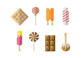 Candy, ice and dessert icons