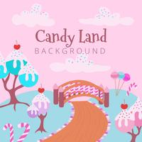 Sweet Candy Land Background