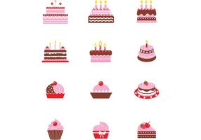 Chocolate Cake Vector Pack