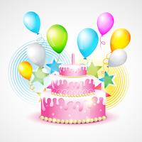 colorful background of birthday