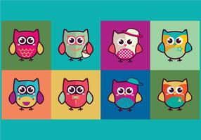 【猫头鹰图案】60套 Illustrator 猫头鹰 q 版图下载,猫头鹰卡通图推荐款