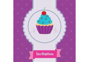 Cupcake Invitation Vector