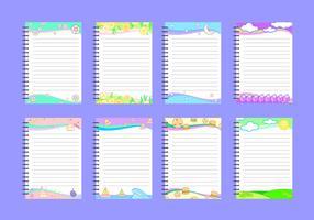 【便利贴素材】32套 Illustrator 便利贴图案下载,可爱便利贴推荐款
