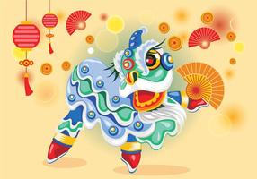 【舞龙舞狮图案】32套 Illustrator 舞龙舞狮q版图下载,舞龙舞狮素材推荐款