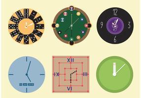 【时钟图案】36套 Illustrator 时钟素材下载,时钟符号推荐款