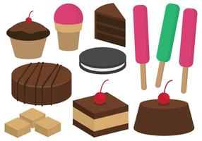 Desserts and Sweets Illustration